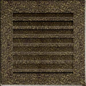 KRATKA kominkowa FRESH  czarno-złota 17x17