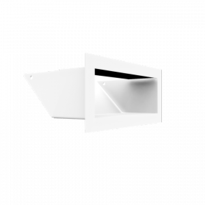 Kratka kominkowa LUFT biały 9x20