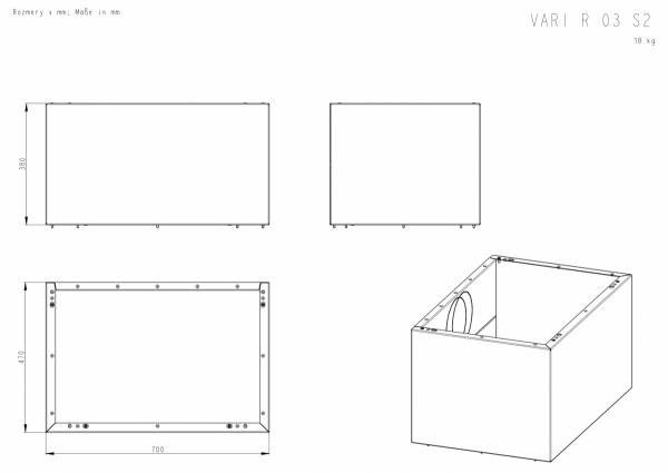 ROMOTOP Variant 03 R+ 2 moduły górne 19 i 38 cm