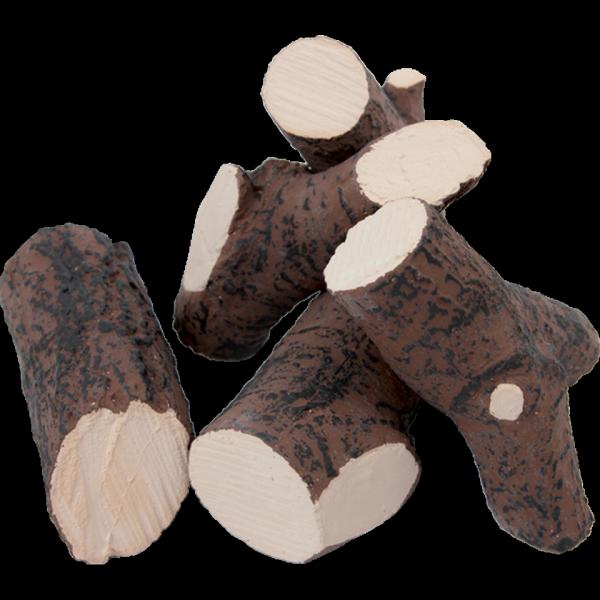 Elementy ozdobne, drewienka ceramiczne