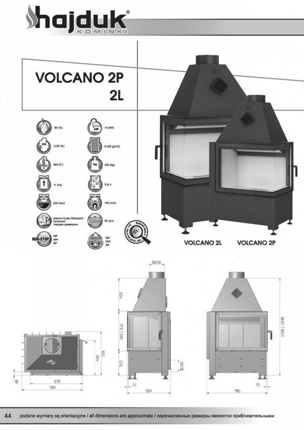 HAJDUK Volcano 2P bez szprosa