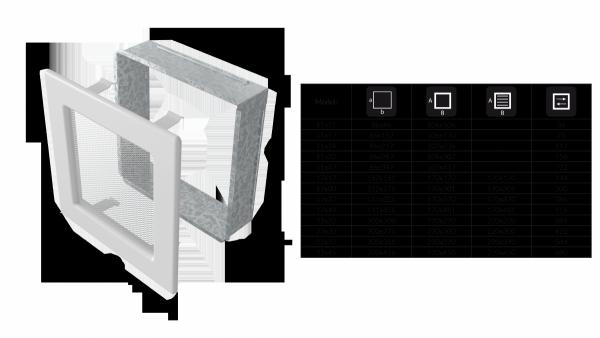 KRATKA kominkowa 11x32 biała