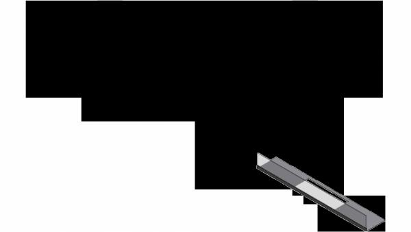 Przeszklenie biokominka JULIET 1100