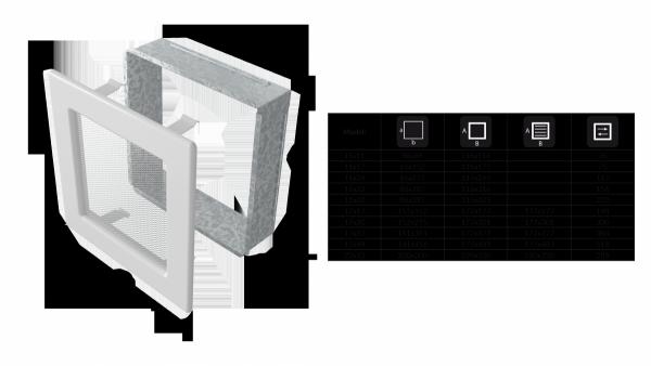 KRATKA kominkowa 11x11 grafitowa