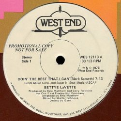 Bettye Lavette - Doin' The Best That I Can (12'')
