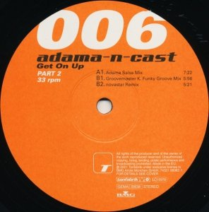 Adama-N-Cast - Get On Up Part 2 (12'')