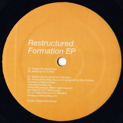 Restructured - Formation EP (12'')