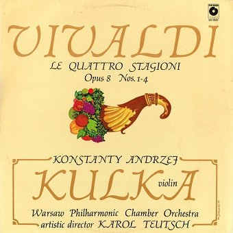 Konstanty Andrzej Kulka / Warsaw Philharmonic Chamber Orchestra / Vivaldi - Le Quattro Stagioni Opus 8 Nos.1-4 (LP)