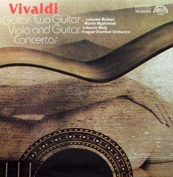 Antonio Vivaldi - Lubomír Brabec, Martin Mysliveček, Lubomír Malý, Prague Chamber Orchestra - Koncerty Pro Kytaru = Guitar Concertos (LP)