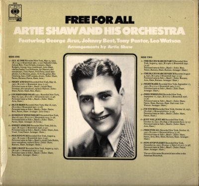 Artie Shaw And His Orchestra Featuring George Arus, Johnny Best, Tony Pastor And Leo Watson - Free For All (LP)