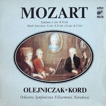 Mozart, Orkiestra Symfoniczna Filharmonii Narodowej, Olejniczak, Kord - Wolfgang Amadeus Mozart (LP)