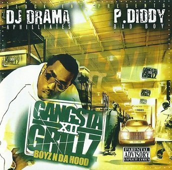 DJ DramP. Diddy - Gangsta Grillz 12 (Boyz N Da Hood) (CD)