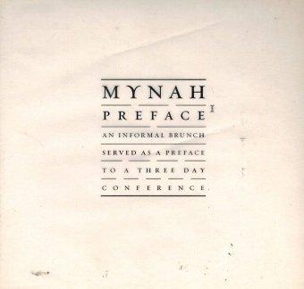 Mynah Preface (CD)