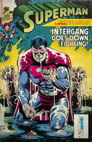 Superman Intergang Goes Down Fighting 3/94