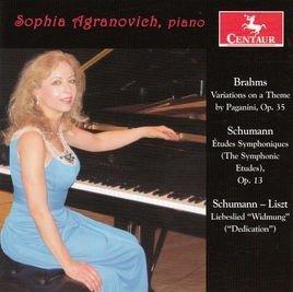 Sophia Agranovich, Brahms Op. 35, Schumann Op. 13, Schumann-Liszt Libeslied Widmung (CD)
