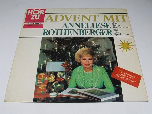 Anneliese Rothenberger, Tölzer Knabenchor – Advent mit Anneliese Rothenberger dem Tölzer Knabenchor und alten Spieluhren (LP)