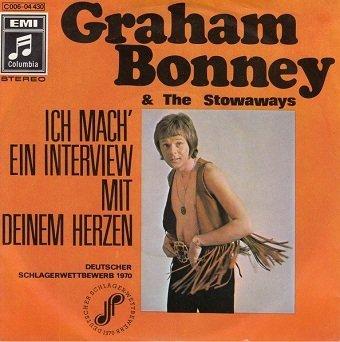 """Graham Bonney & The Stowaways - Ich Mach' Ein Interview Mit Deinem Herzen / Sally (7"""")"""