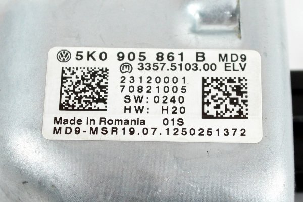 Blokada kierownicy VW Golf VI 5K 2012 Kombi