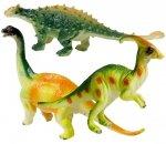 DINOZAURY Figurki Zestaw 3 szt Gumowe Ankylozaur