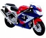 MOTOR HONDA CBR 900RR FIREBLADE MOTOCYKL Welly 1:18