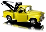 Auto 1955 CHEVY STEPSIDE Tow Truck Metalowe Welly 1:34