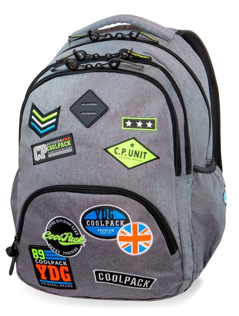 ed7d6bd46fa4c CoolPack PLECAK BENTLEY Badges Grey 30L B24052 3w1 - CoolPack ...