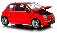 FIAT 500 2007 AUT0 Welly Metalowy Model 1:24