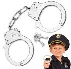 Metalowe KAJDANKI dla Dzieci Policyjne KLUCZYKI