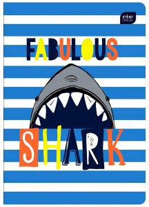 Zeszyt 32 Kartkowy w REKIn Shark w Kratkę