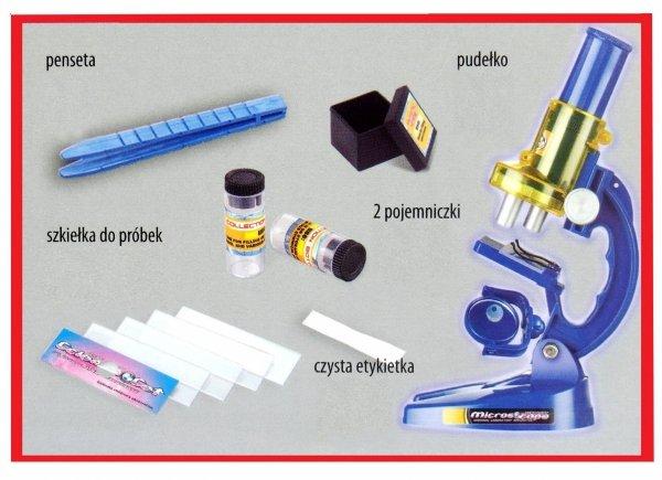 Zestaw Naukowy TELESKOP + MIKROSKOP Edukacyjny LUNETA 2w1