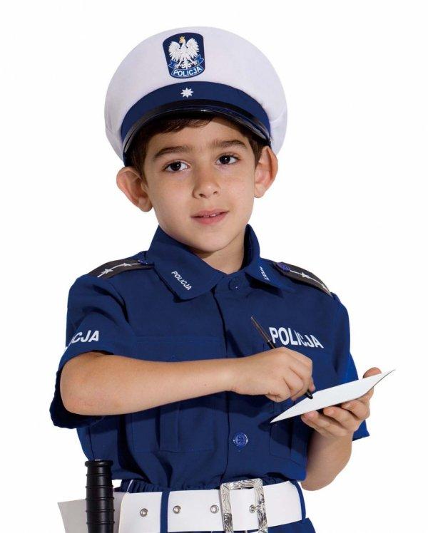 POLICJANT DROGÓWKA STRÓJ Karnawałowy 128 Kinderbal