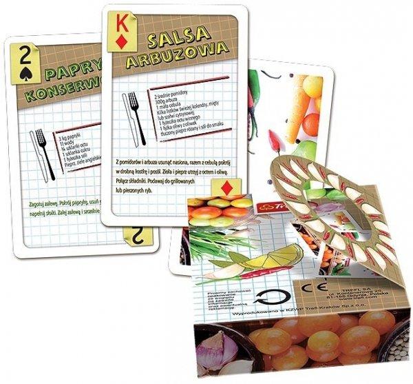 Karty do Gry PRZEPISY Trefl Plastik 55 kart Oczko