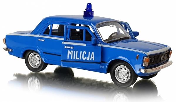 MILICJA METALOWY MODEL Fiat 125p MO Welly 1:34