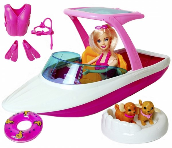 ŁÓDKA dla Lalek MOTORÓWKA Barbie LALKA Akcesoria