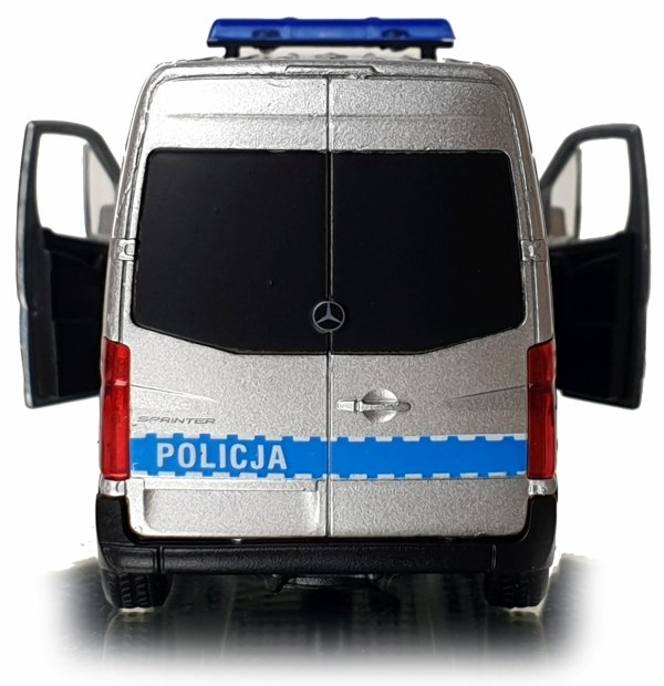 Policja Mercedes Benz Sprinter Panel VAN Welly