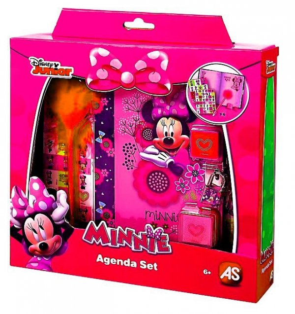 PAMIĘTNIK Myszka Minnie Na Kłódkę z Akcesoriami