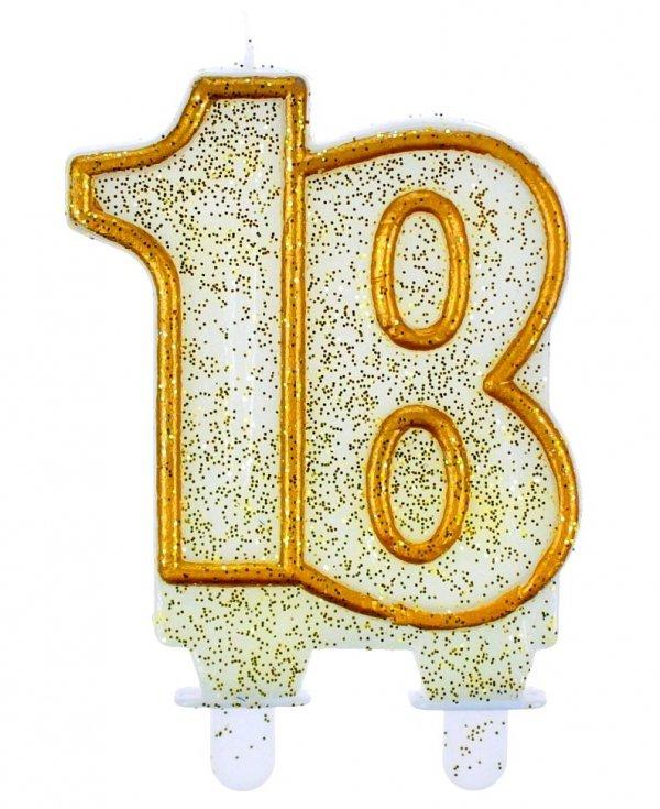 ŚWIECZKA Urodzinowa 18-stka Brokatowa Urodziny TORT