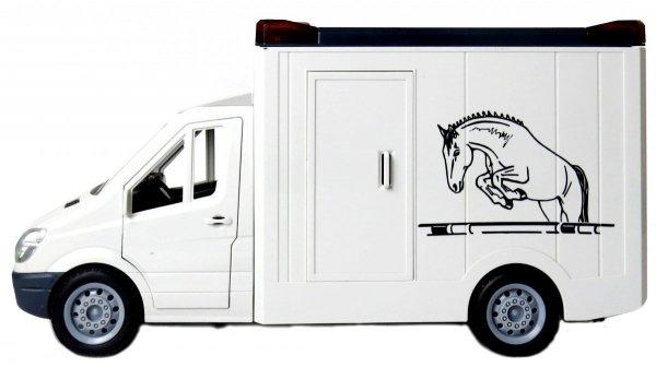 AUTO do Przewozu KONI Transporter CIĘŻARÓWKA Dźwięk Światło