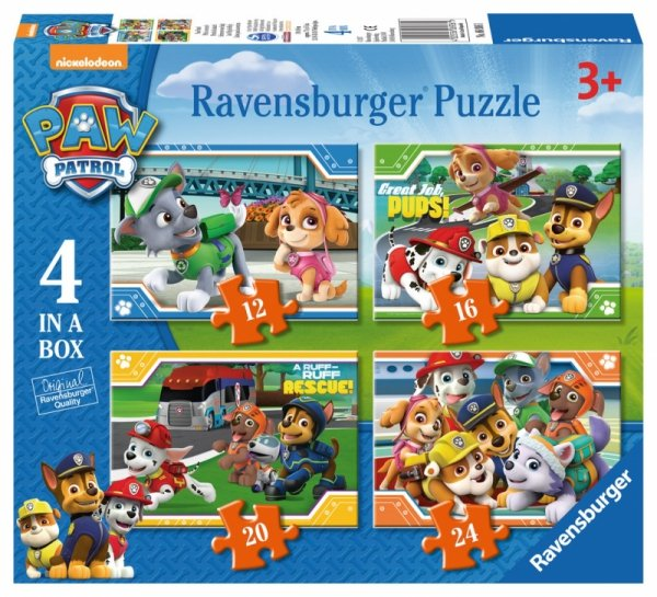 Puzzle PSI PATROL 4w1 Pieski Ravensburger