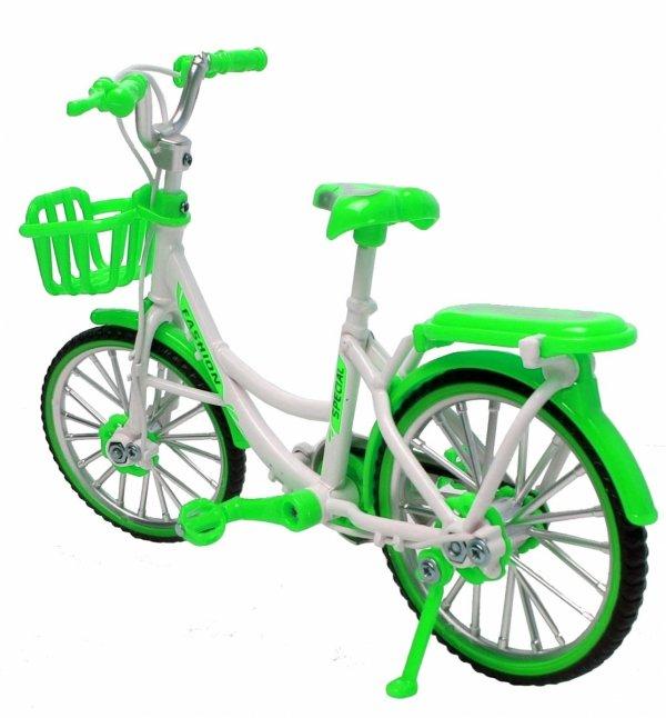 DAMKA MIEJSKI Rower METALOWY Model 1:10 Zielony