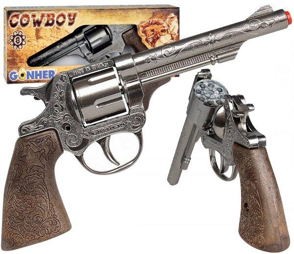 Metalowy REWOLWER Kowbojski GONHER 80/0