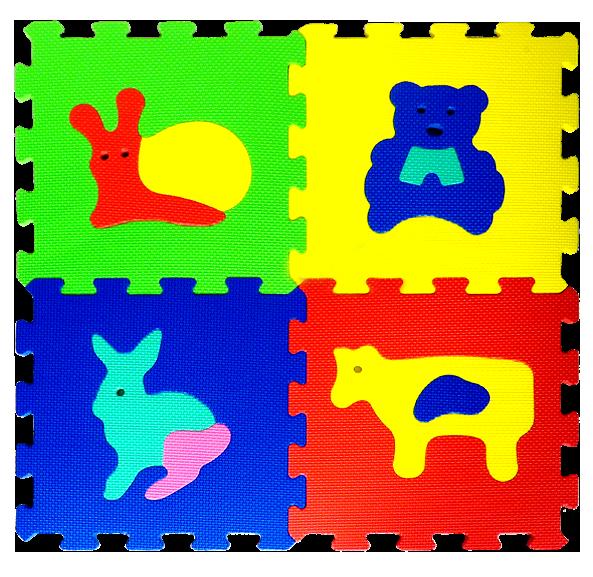 Puzzle PIANKOWE Zwierzątka 32 x 32 BEZ FORMAMIDU Mata