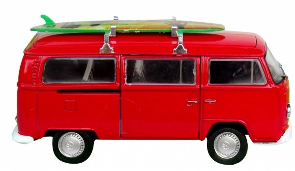 METALOWY Volkswagen Bus T72 1972r MODEL Welly