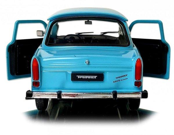 TRABANT Auto METALOWY MODEL Welly 1:24 Niebieski