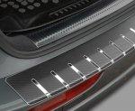 BMW X6 I (E71) 2008-2014 Nakładka na zderzak z zagięciem (stal + folia karbonowa)