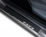 VW GOLF VII 5D HATCHBACK | KOMBI od 2012 Nakładki progowe - stal + folia karbonowa [ 8szt ]