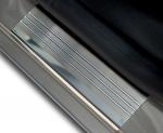 RENAULT SCENIC II | GRAND SCENIC II 2003-2009 Nakładki progowe - stal + poliuretan [ 4szt ]