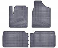 Dywaniki gumowe szare FORD Galaxy 1995-2006   SEAT Alhambra 1995-2010   Vw Sharan 1996-2010 wersja 5-osobowa