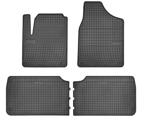 Dywaniki gumowe czarne FORD Galaxy 1995-2006 | SEAT Alhambra 1995-2010 | Vw Sharan 1996-2010 wersja 5-osobowa