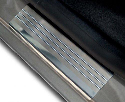 FORD GRAND C-MAX od 2010 Nakładki progowe - stal + poliuretan [ 4szt ]